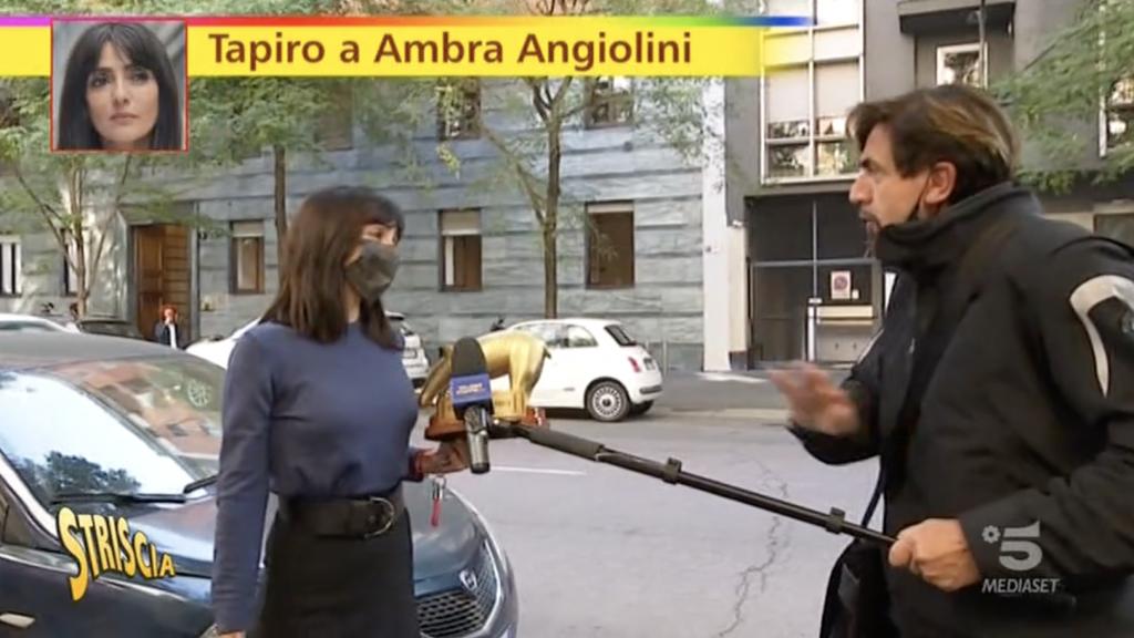 Consegna del Tapiro ad Ambra Angiolini