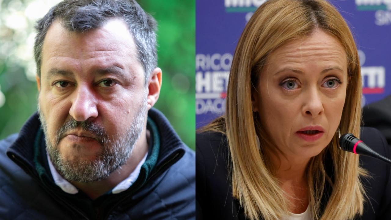 Matteo Salvini e Giorgia Meloni parlano dopo i risultati dei ballottaggi tra Roma, Torino e Trieste