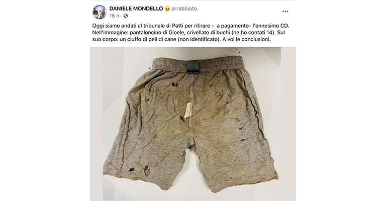 Post Facebook di Daniele Mondello
