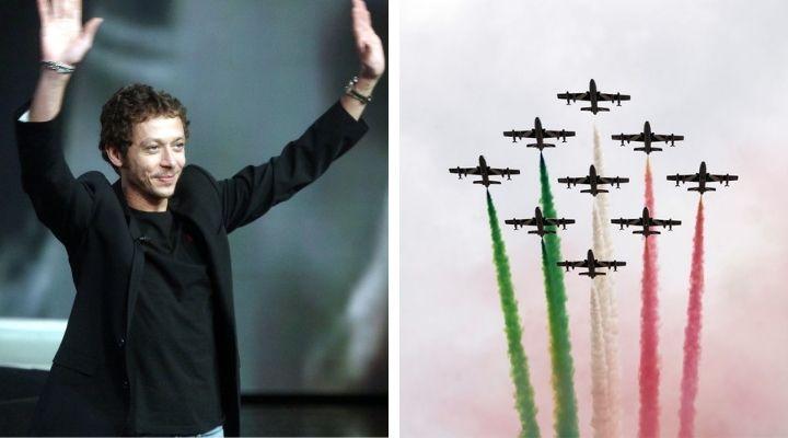 Valentino Rossi, Frecce Tricolori nel cielo di Misano per la sua ultima gara in Italia prima del ritiro