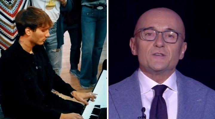 Manuel Bortuzzo suona al piano al GF Vip, Alfonso Signorini manda in onda la clip: emozione in diretta