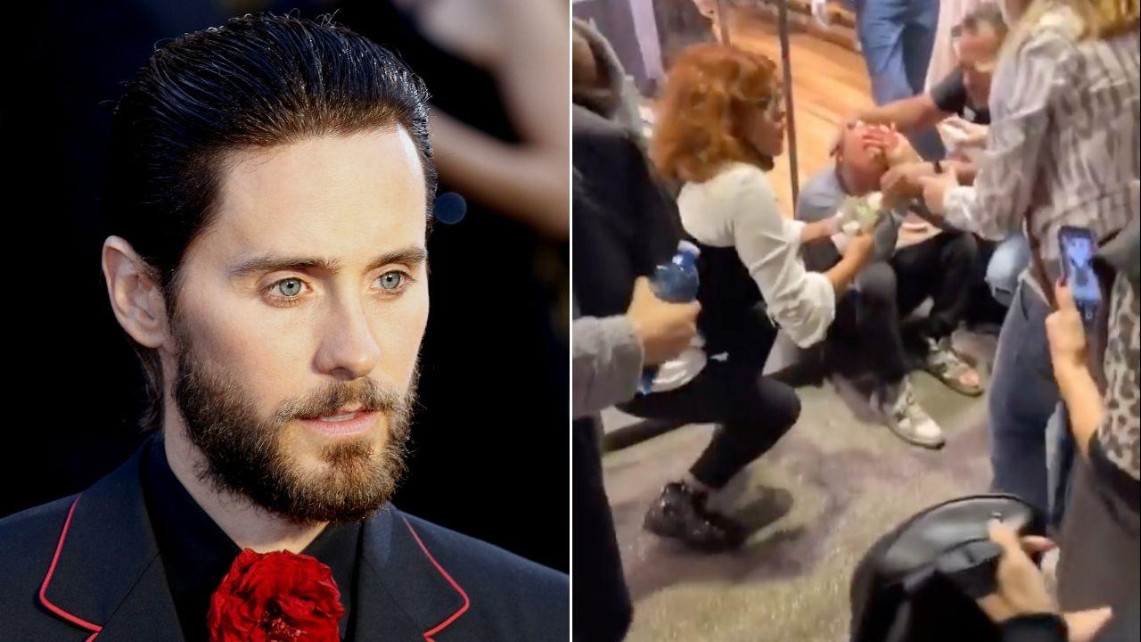 """Jared Leto tra gli scontri No Green Pass a Roma, le foto e i video dell'attore: """"Asfissiato dai lacrimogeni"""""""