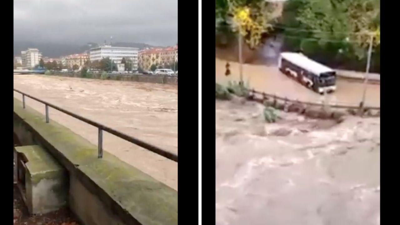 Maltempo, primi disagi nel savonese. Esondano torrenti: allagati edifici e strade, è allerta rossa in Liguria