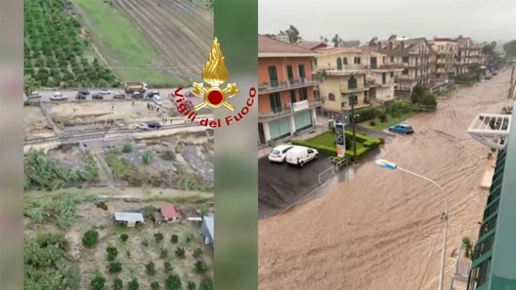 Maltempo, ancora allerta rossa in Calabria e Sicilia: un'altra giornata critica per le due regioni
