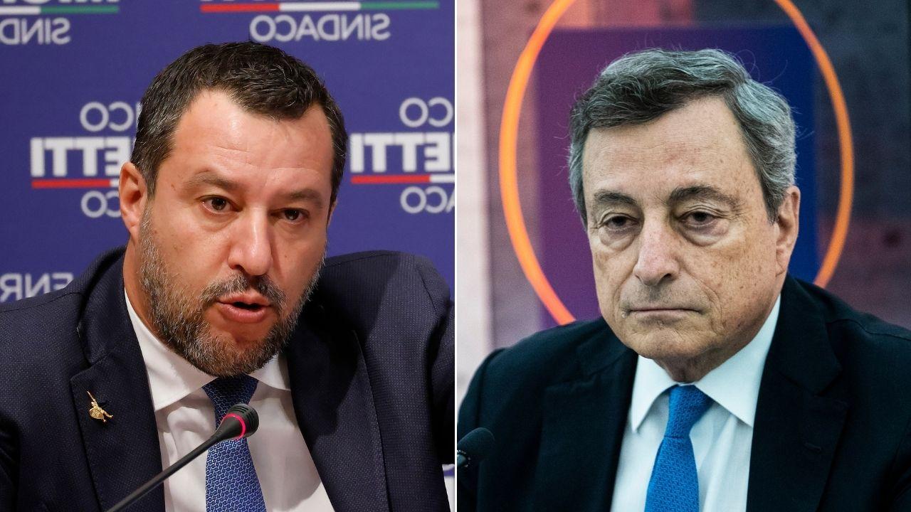 """Salvini incontra Draghi e chiede """"pacificazione nazionale"""": Lamorgese sotto attacco per l'assalto alla Cgil"""