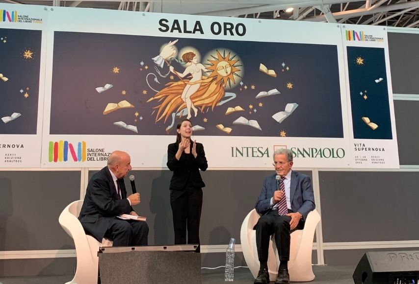Romano Prodi e Gustavo Zagrebelsky al Salone del Libro