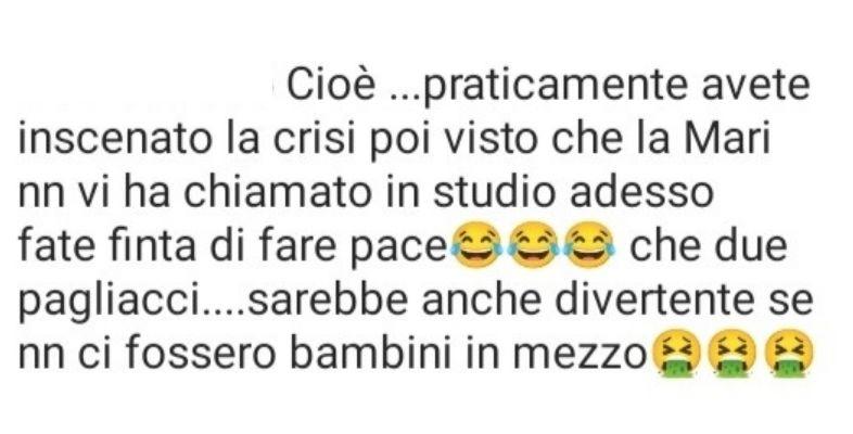 I commenti del web su Sossio Aruta e Ursula Bennardo