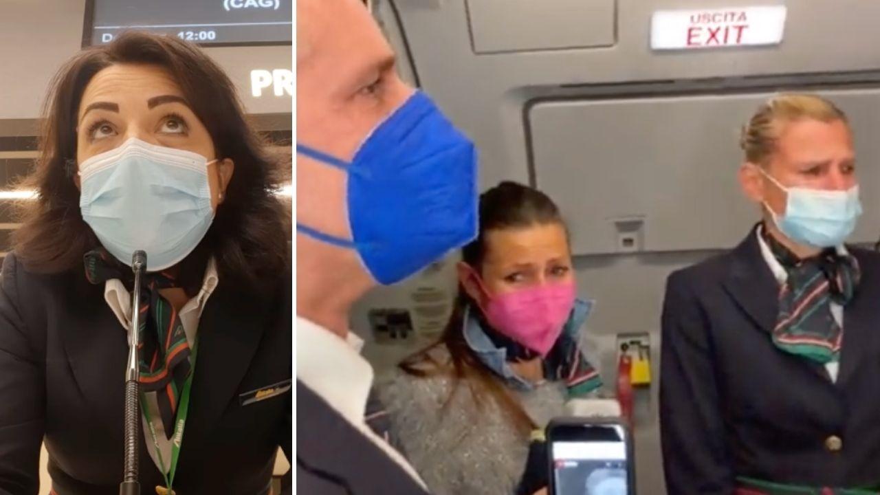 L'ultimo volo di Alitalia, l'addio del personale: l'annuncio commosso della hostess per l'ultimo imbarco